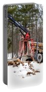 Unloading Firewood 1 Portable Battery Charger