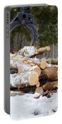 Unloading Firewood 3 Portable Battery Charger