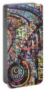 Unread Poem22-abstract Painting Portable Battery Charger