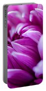 Up-close Flower Power Pink Mum  Portable Battery Charger