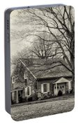 Upper Dublin Meetinghouse In Sepia Portable Battery Charger
