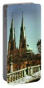 Uppsala Cathedral Steeples Portable Battery Charger