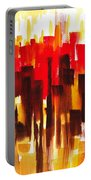 Urban Abstract Glowing City Portable Battery Charger