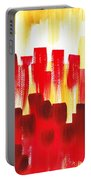 Urban Abstract Red City Lights Portable Battery Charger