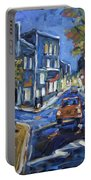 Urban Avenue By Prankearts Portable Battery Charger by Richard T Pranke