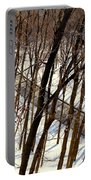 Urban Forest At Dusk Portable Battery Charger