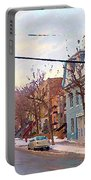 Urban Winter Landscape Colors Of Quebec Cold Day Pointe St Charles Street Scene Montreal  Portable Battery Charger