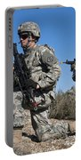 U.s. Army Soldiers Scan The Terrain Portable Battery Charger