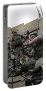 U.s. Army Soldiers Set Up A Tactical Portable Battery Charger