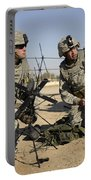 U.s. Army Soldiers Setting Portable Battery Charger by Stocktrek Images