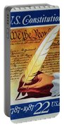 Us Constitution Stamp Portable Battery Charger