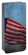 Us Flag -blue Antiqued Portable Battery Charger