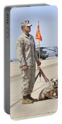 U.s. Marine And The Official Mascot Portable Battery Charger