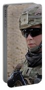 U.s. Navy Soldier At Farah City Portable Battery Charger