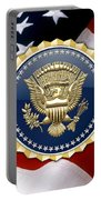 Presidential Service Badge - P S B Over American Flag Portable Battery Charger