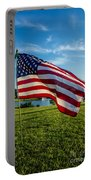 Usa Flag Portable Battery Charger by Phyllis Bradd