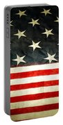 Usa Stars And Stripes Portable Battery Charger by Les Cunliffe