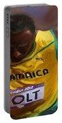 Usain Bolt 2012 Olympics Portable Battery Charger by Vannetta Ferguson