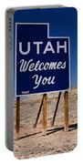 Utah Welcomes You State Sign Portable Battery Charger