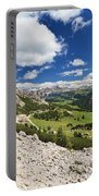 Val Badia From Gardena Pass Portable Battery Charger