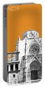 Valencia Skyline Valencia Cathedral - Dark Orange Portable Battery Charger