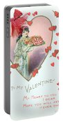 Valentine Card Portable Battery Charger