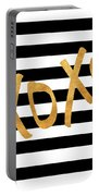 Valentines Stripes IIi Portable Battery Charger