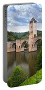Valentre Bridge In Cahors France Portable Battery Charger