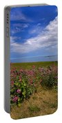 Valerian By A Stone Wall On The Northumberland Coast Portable Battery Charger