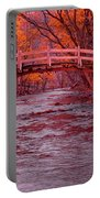 Valley Creek Bridge In Autumn Portable Battery Charger
