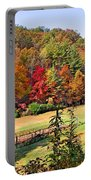 Valley Farm In The Fall Portable Battery Charger