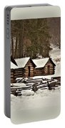 Valley Forge Cabins In Snow 2 Portable Battery Charger