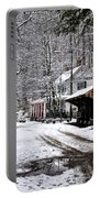 Valley Green In Winter Along Forbidden Drive Portable Battery Charger