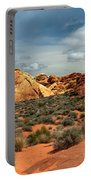 Valley Of Fire Portable Battery Charger by Robert Bales