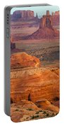 Valley Of Monuments At Dawn Portable Battery Charger