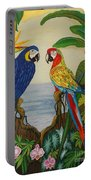 Valley Of The Wings Hand Embroidery Portable Battery Charger