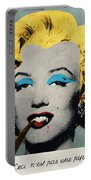 Vampire Marilyn With Surreal Pipe Portable Battery Charger