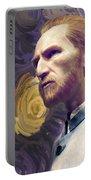 Van Gogh Portrait Portable Battery Charger