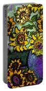 Van Gogh Sunflowers Cover Portable Battery Charger
