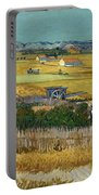 Van Gogh Wheatfield 1888 Portable Battery Charger