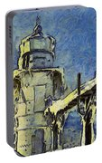 The Frozen Lighthouse Lake Michigan Portable Battery Charger