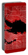 Vancouver Street Map - Vancouver Canada Road Map Art On Color Portable Battery Charger