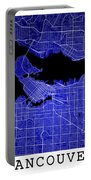 Vancouver Street Map - Vancouver Canada Road Map Art On Colored  Portable Battery Charger