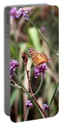 Variegated Fritillary Butterfly Portable Battery Charger