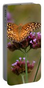 Variegated Fritillary Butterfly Square Portable Battery Charger