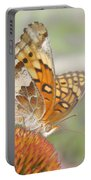 Variegated Fritillary On Cone Flower Portable Battery Charger