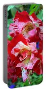 Variegated Multicolored English Roses Portable Battery Charger