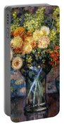 Vase Of Flowers Portable Battery Charger by Theo van Rysselberghe