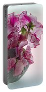 Vase Of Pretty Pink Sweet Peas 2 Portable Battery Charger