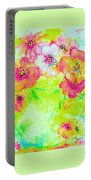 Vase Of Spring Flowers Portable Battery Charger